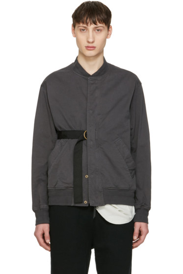 Robert Geller - Grey Jan Bomber Jacket