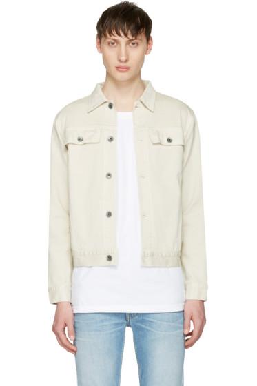 Robert Geller - Off-White Denim Jacket