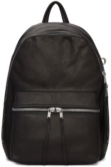 Rick Owens - Black Leather Backpack
