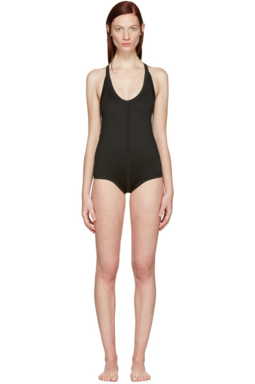Rick Owens - Black Crossback Swimsuit
