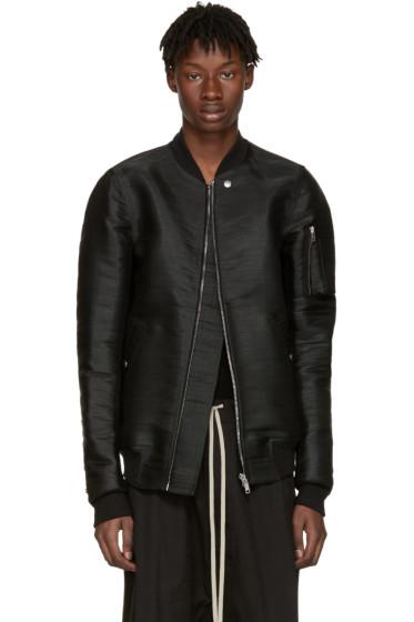 Rick Owens - SSENSE Exclusive Black Horsehair Flight Jacket
