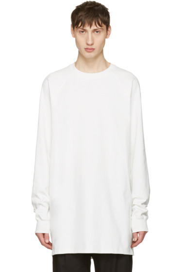 Rick Owens - White Baseball Tee Pullover