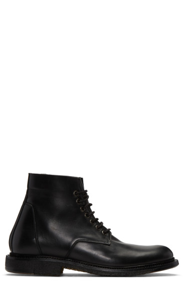 Rick Owens - Black Chukka Slim Army Boots