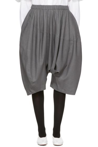 Comme des Garçons - Grey Long Drop Shorts
