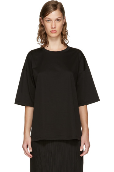 Jil Sander - Black Open Back T-Shirt