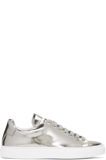 Jil Sander - Silver Leather Sneakers