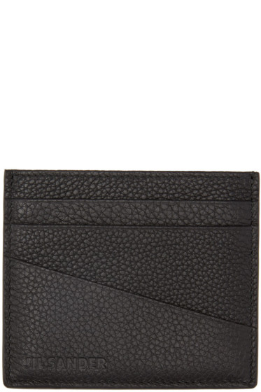 Jil Sander - Black Grained Card Holder