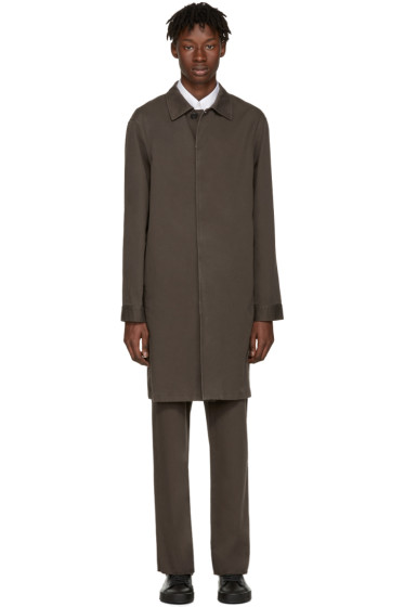 Jil Sander - Brown Madras Coat