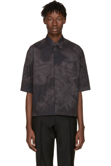 Jil Sander - Grey Minuetto Flower Shirt