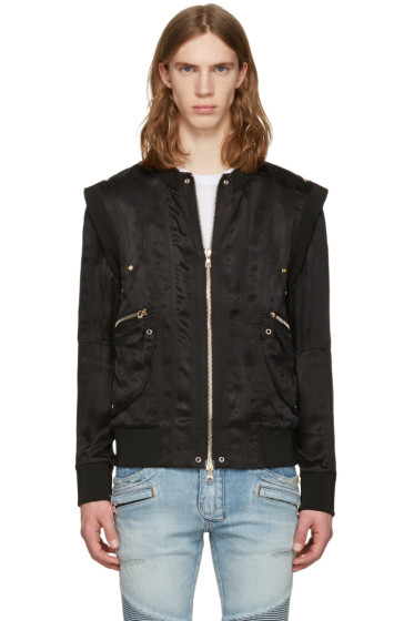 Balmain - Black Zip Jacket