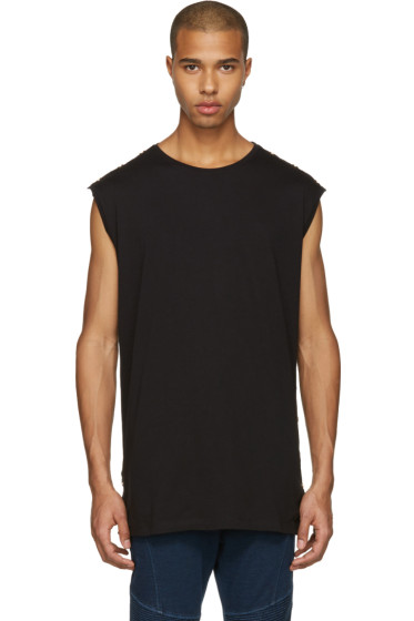 Balmain - Black Studded Muscle T-Shirt