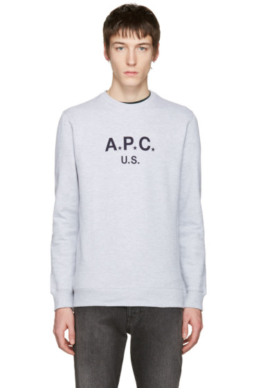 A.P.C. - Grey Logo Pullover