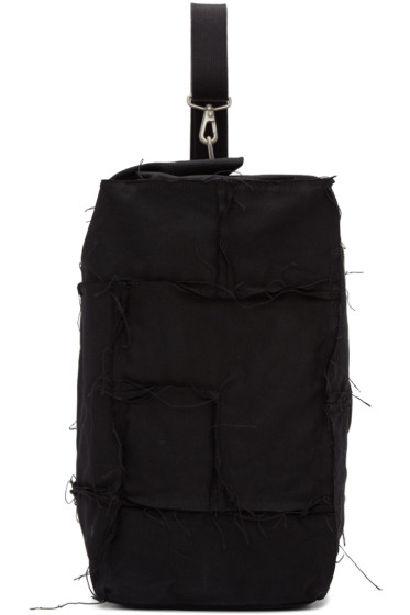 Junya Watanabe - Black Canvas One Shoulder Backpack