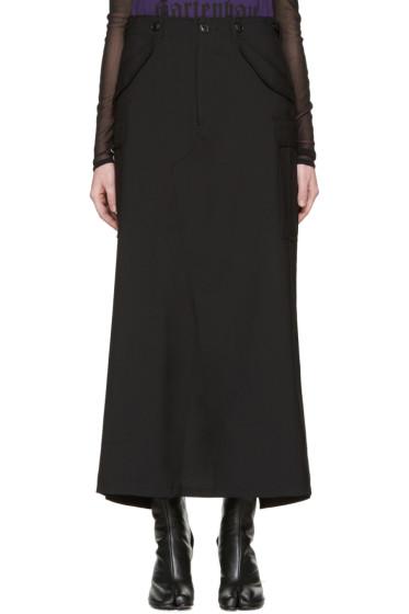 Junya Watanabe - Black Wool Cargo Skirt