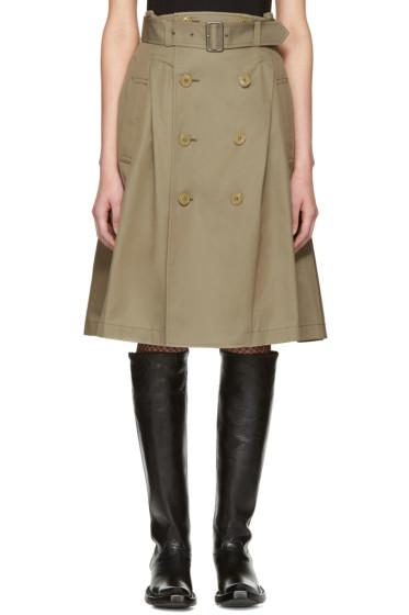 Junya Watanabe - Beige Double Button Skirt