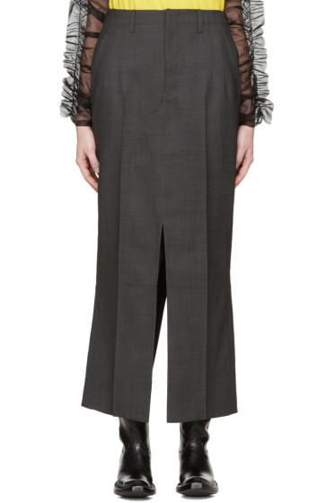 Junya Watanabe - Grey Slit Trouser Skirt