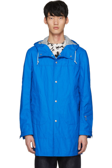 Junya Watanabe - Blue Coated Linen Raincoat