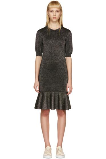 Lanvin - Black Lurex Peplum Dress