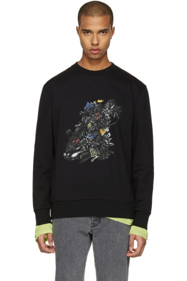 Lanvin - Black Car & Flowers Pullover