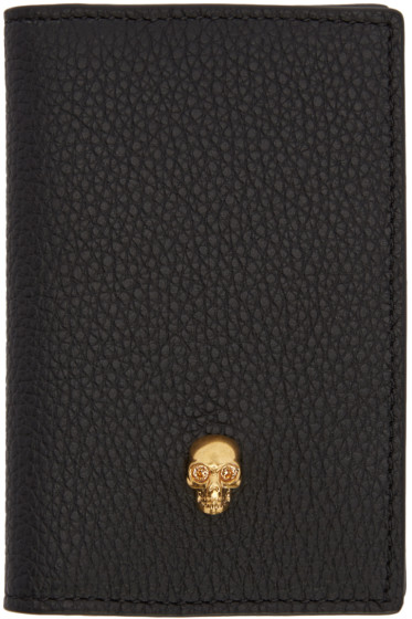 Alexander McQueen - Black Skull Pocket Organizer