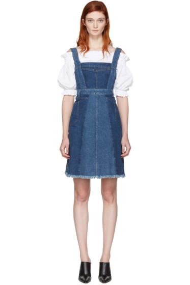 Alexander McQueen - Blue Denim Patchwork Dress