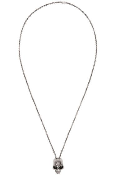 Alexander McQueen - Silver Divided Skull Necklace