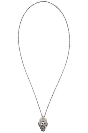 Alexander McQueen - Silver Skull Nose Ring Necklace