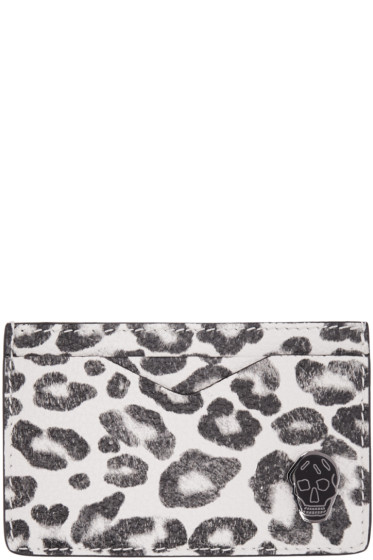 Alexander McQueen - Ivory Leopard Card Holder