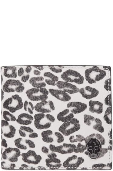 Alexander McQueen - Ivory Leopard Wallet