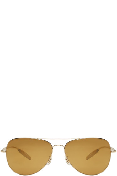 Paul Smith - Gold Davison Aviator Sunglasses
