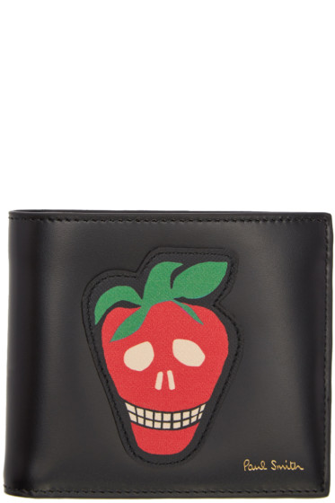 Paul Smith - Black Strawberry Skull Wallet
