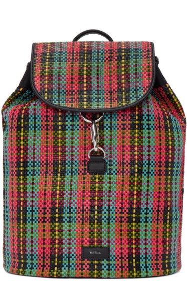 Paul Smith - Multicolor Woven Check Backpack