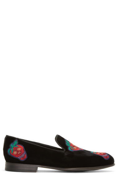 Paul Smith - Black Velvet Rudyard Loafers