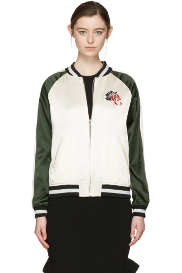 Opening Ceremony - Reversible Ivory Gestures Bomber Jacket