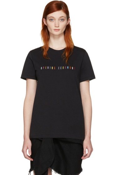 Opening Ceremony - Black Signature Logo T-Shirt