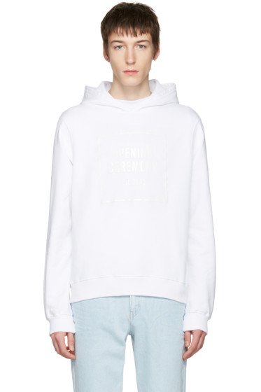 Opening Ceremony - White Gel Box Logo Hoodie