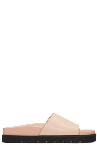 Giuseppe Zanotti - Pink Leather Rimba Sandals