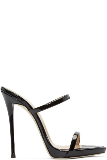 Giuseppe Zanotti - Black Patent Leather Sandals