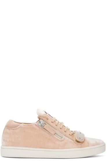 Giuseppe Zanotti - Pink Velvet  Veronica Sneakers
