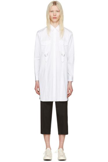 Comme des Garçons Shirt - ホワイト アジャスタブル ストラップ シャツ