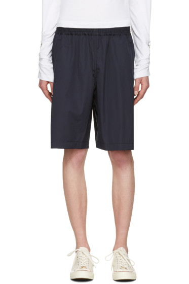 Comme des Garçons Shirt - Navy Workstitch Shorts