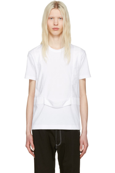 Comme des Garçons Shirt - White Single Harness T-Shirt
