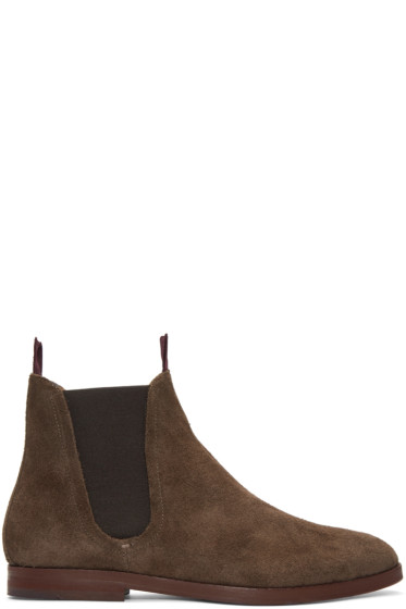 H by Hudson - Brown Suede Tamper Boots