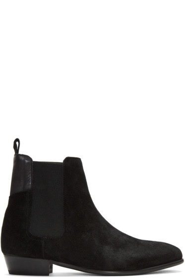 H by Hudson - Black Watts Chelsea Boots