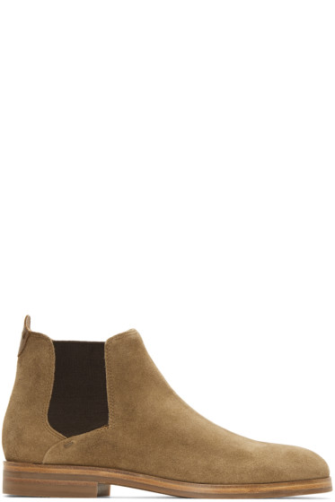 H by Hudson - Brown Suede Tonti Chelsea Boots