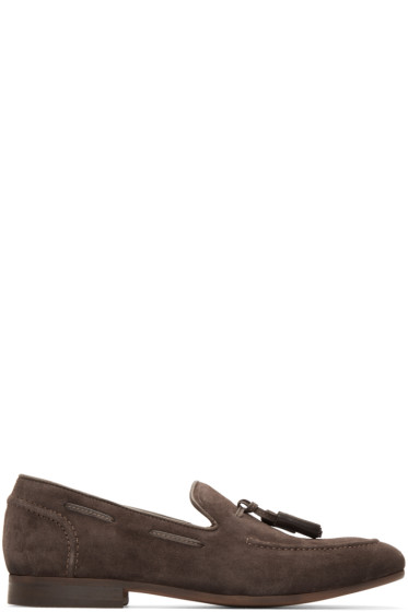 H by Hudson - Brown Suede Pierre Loafers