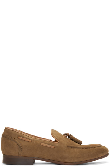 H by Hudson - Tan Suede Pierre Loafers