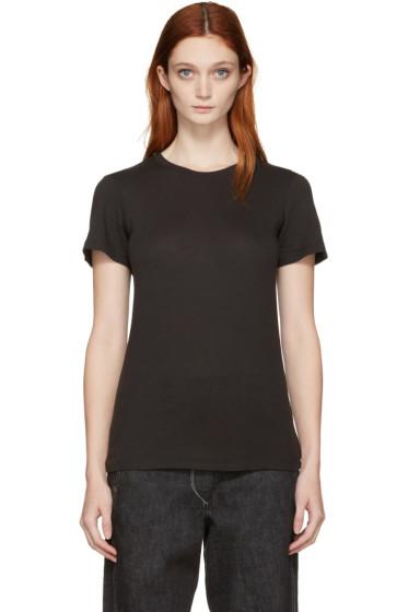 Raquel Allegra - Black Jersey Slim T-Shirt