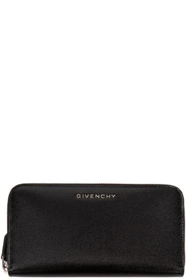 Givenchy - Black Patent Long Pandora Wallet