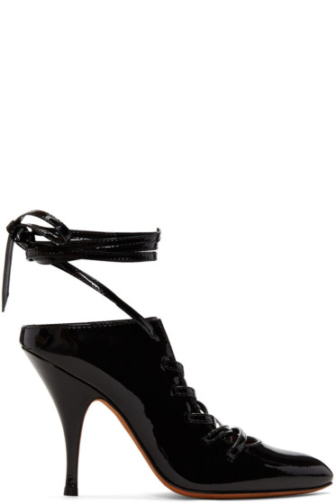 Givenchy - Black Lace-Up Heels